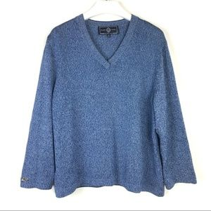 St. John Sport by Marie Gray Heather Navy Sweater